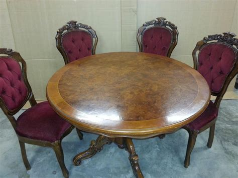 single leg dining table 19th century carved single leg table and chairs for sale