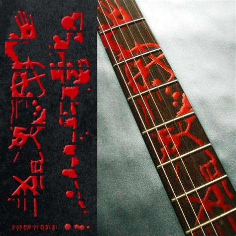bloody  fret markers inlay stickers decals guitar
