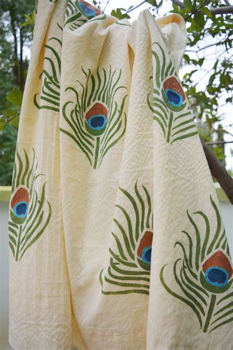 diy painted curtains with fevicryl fabric paints
