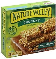 nature valley granola bars crunchy oats  honey  ea