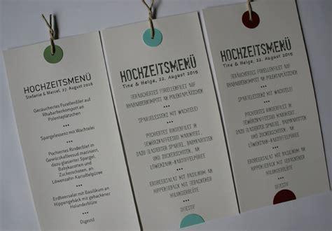 menuekarten hochzeit handgefertigt  ihrem design