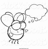 Fly Cartoon Daydreaming Guy Coloring Pages Toon Hit Print Clipart Printable Getcolorings Resolution Remarkable Stocktoons sketch template