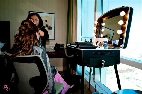 professional makeup vanity with lights hair and makeup at hotel triple twist blog