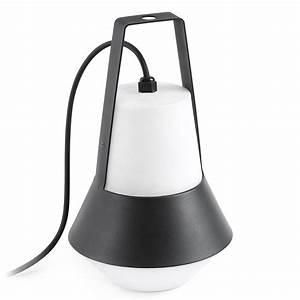 Lampe De Table Exterieur : lampe exterieur cat noir faro 71562 ~ Teatrodelosmanantiales.com Idées de Décoration