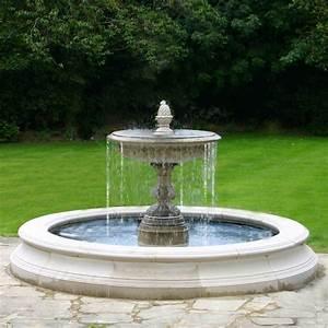 Medium, One, Tier, Vermeer, Garden, Fountain