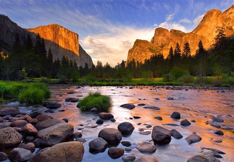 Yosemite Village Valley Usa Sunrise Sunset