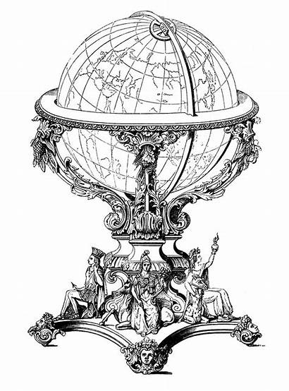 Globe Steampunk Graphics Ornate Fairy Clip Clipart