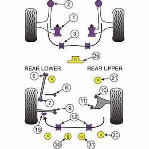 Subaru Brz Rear Lower Track Control Inner Bushing