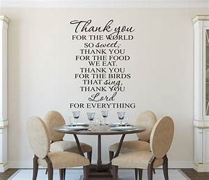 kitchen wall decals christian art e28093 prayer decal With kitchen cabinets lowes with inspirational vinyl wall art