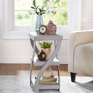Antique, Gray, Twisted, Side, Table, -, Modern, Distressed, Finish, Room, Accent, -, Walmart, Com