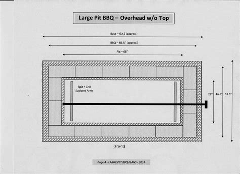 pit dimensions how to build a rotisserie pit bbq diy projects for everyone