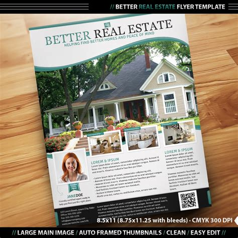 real estate template real estate flyer inenx