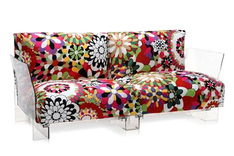 kartell canapé pop missoni sofa design sofa kartell 2 or 3 seats with
