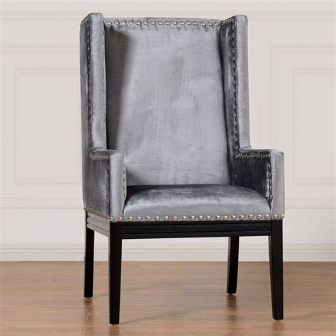 tribeca grey velvet chair contemporary armchairs and