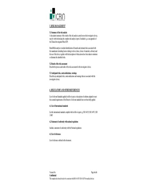 Investigator Brochure Template by Sle Investigator S Brochure Template Free