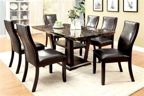 clayton  dark cherry rectangular pedestal dining room set