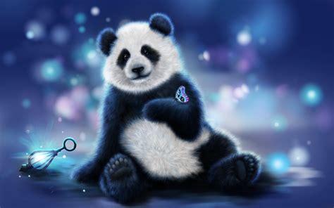 Panda Hd Wallpaper Animated - butterfly on panda animated wallpaper wallpaper