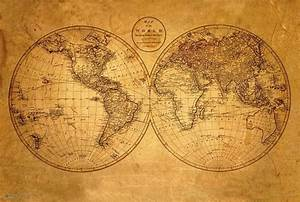 OLD WORLD MAP POSTER