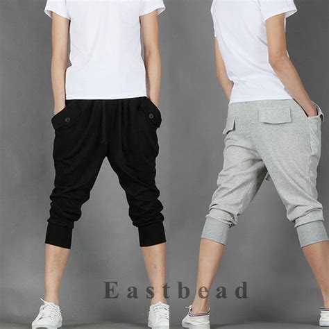 Korean Fashion Mens Sweat Shorts Sport Hip Hop Dance Harem ...