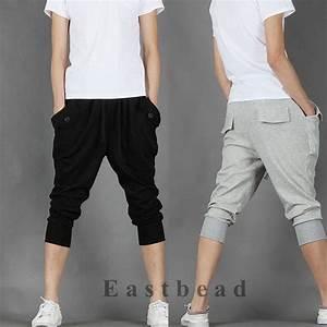 Korean Fashion Mens Sweat Shorts Sport Hip Hop Dance Harem Baggy Pants Trousers | eBay
