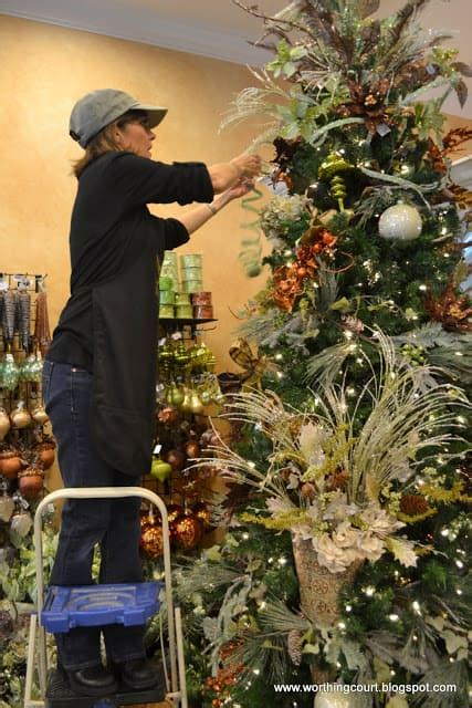 how to decorate a christmas tree from start to finish how to step by step designer s tree decorating worthing court