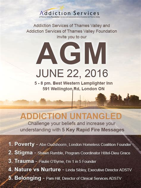 annual general meeting addiction services  thames valley