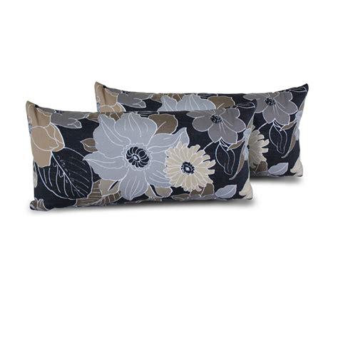 gray outdoor pillows grey floral outdoor throw pillows rectangle set of 2