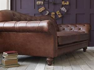 Sofa Vintage Leder : vintage brown leather sofa ~ Indierocktalk.com Haus und Dekorationen