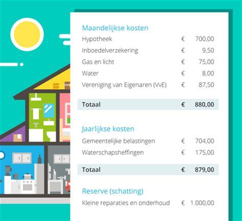 Huis Kopen Berekenen Kosten by Wat Kost Een Eigen Huis Nu Eigenlijk Wegwijs Nl