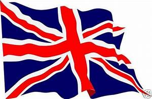 Waving Union Jack flag stickers X 4 decals Great Britain ...