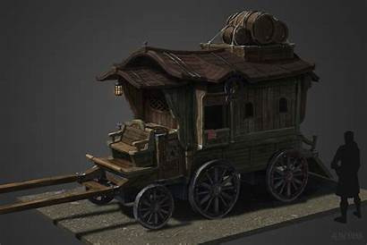 Artstation Carriage Medieval Joongho Carriages Dungeon Land