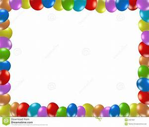 Frame Of Colorful Balloons Stock Image - Image: 2427601