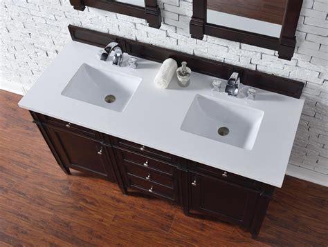 Contemporary Inch Double Sink Bathroom Vanity Mahogany