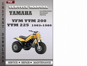 Yamaha Yfm Ytm 200 Ytm 225 1983-1986 Service Repair Manual D