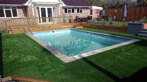 swimming pool surroundings artificial grass for indoor above ground outdoor swimming pool landscaping