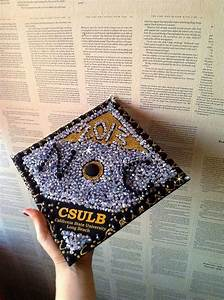 Graduation cap decoration ideas DIY with crystals, gems ...