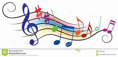 Notes Musical Colorful Melody Floats Across