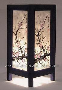 ASIAN ORIENTAL HOME ART TABLE BEDSIDE NIGHTSTAND LAMP