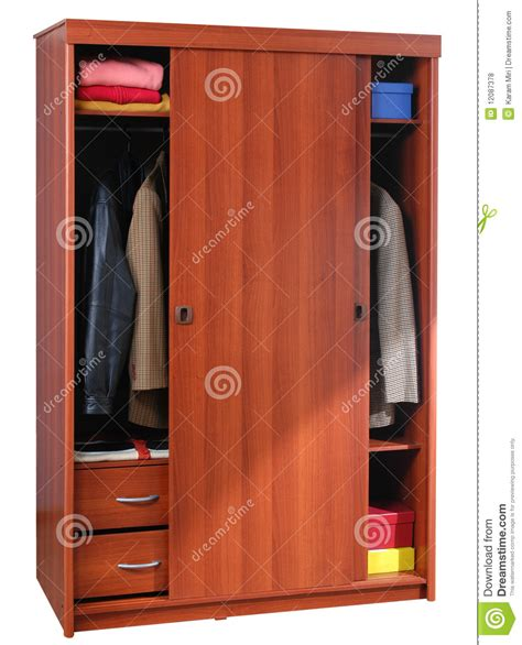 Cupboard For Clothes by Clothing Cabinet Isolated Royalty Free Stock Photos