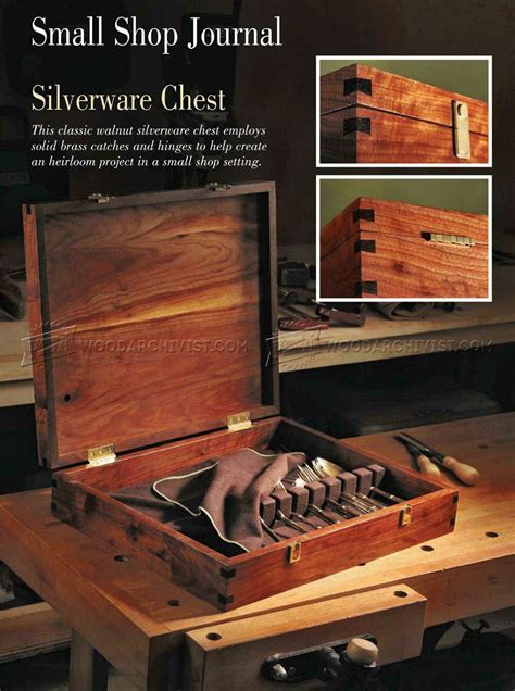 silverware chest plans woodarchivist