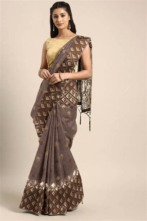 Sarees from videos older than a week might get sold out, so recommend you to enquire on latest videos sarees. Roykals Linen Art Silk Weaving Saree in Coffee Brown #Art, #Ad, #Silk, #Roykals, #Linen #AFF in ...