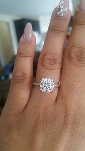 calling all big huge rings pics weddingbee With wedding bands for large engagement rings