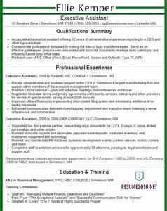 Executive assistant resume examples 2016 get your job for Executive assistant resume template