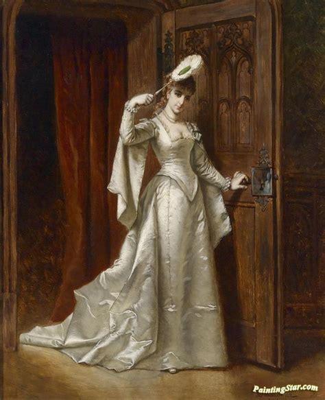 elegant lady   white dress artwork  wladyslaw