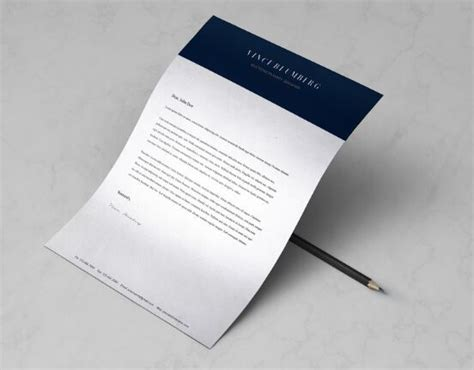 free minimal a4 letter resume template psd vector