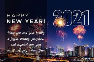 Happy New Year 2021 Greeting Cards With Fireworks