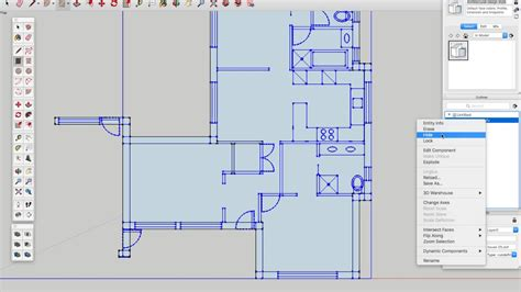 floor plans in illustrator how to convert 1 100 scale house plans from adobe illustrator to sketchup youtube