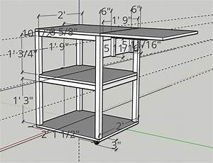 Diy Rolling Cart Diagram With Dimensions