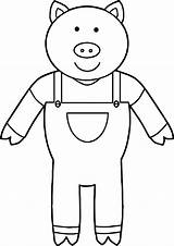 Pigs Coloring Three Cool Pages Colouring Preschool Story sketch template