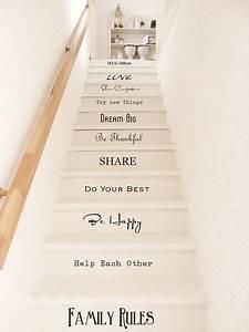 Treppe Shabby Chic : mit diesen treppentatoos wird die treppe zum hingucker flur pinterest wandtattoo shabby ~ Frokenaadalensverden.com Haus und Dekorationen